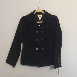 NWT Black Talbots Peacoat Jacket